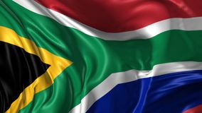 Flag of South Africa stock footage