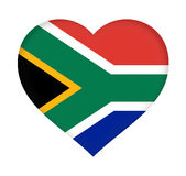 Flag of  South Africa Heart Royalty Free Stock Images