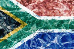 Flag of South Africa texture stock images