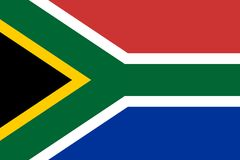 Flag of South Africa. Vector illustration. World flag royalty free illustration