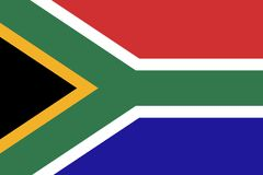 Flag Of South Africa,Vector South Africa flag Royalty Free Stock Image
