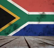 Texture of South Africa flag. stock images