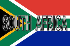 Flag of South Africa Word. Royalty Free Stock Image