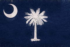 Flag of South Carolina Grunge. Illustration of the flag of South Carolina state in America with a grunge look Royalty Free Stock Photo