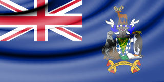 Flag of South Georgia and the South Sandwich Islands. Royalty Free Stock Photo
