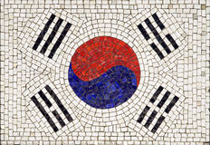 Flag of South Korea. Made from small tiles Stock Photography
