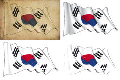 Flag of South Korea Royalty Free Stock Photos