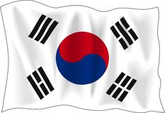 Flag of south Korea royalty free illustration