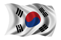Flag of South Korea. Waving in the wind