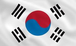 Flag of South Korea. South Korean waving flag (background or wallpaper Royalty Free Stock Image