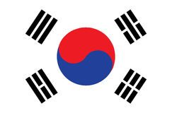 Flag of South Korea. Accurate dimensions,. Element proportions and colors Royalty Free Stock Image