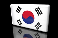 Flag of South Korea 3D volumetric royalty free illustration