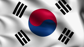 Flag of South Korea (loop) stock video