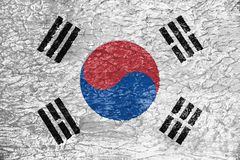 Texture of South Korea flag. royalty free illustration