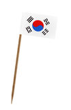 Flag of South Korea. Tooth pick wit a small paper flag of South Korea royalty free stock photography