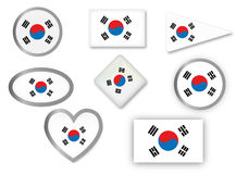 Flag of South Korea Stock Photos
