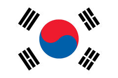 Flag of South Korean stock illustration