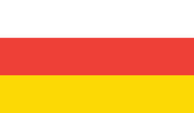 Flag of south ossetia  icon illustration Royalty Free Stock Images