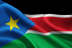 Flag of South Sudan Royalty Free Stock Photo
