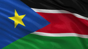 Flag of South Sudan - seamless loop stock illustration