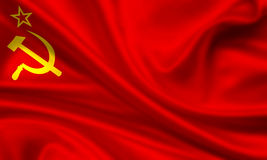 Flag of the soviet union Royalty Free Stock Photos