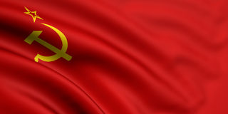 Flag Of Soviet Union. 3d rendered and waving flag of soviet union Stock Photos
