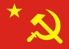 Flag Soviet union. View of nice symbol Flag Soviet union Stock Images