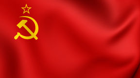 Flag of the Soviet Union 1923-1955 Royalty Free Stock Photography