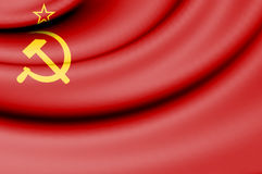 Flag of Soviet Union 1923-1955. Stock Photo