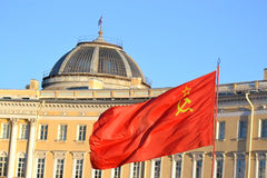 The flag of the Soviet Union. Royalty Free Stock Images