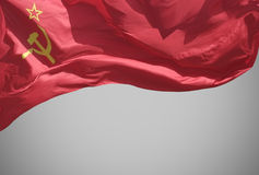 The flag . The flag of the Soviet Union (USSR) waving in the wind Royalty Free Stock Photography