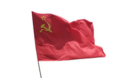 The flag . The flag of the Soviet Union (USSR) waving in the wind Stock Image