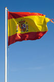 Flag of Spain. Moving in the wind Royalty Free Stock Photos