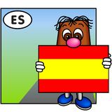 The Flag of Spain stock image