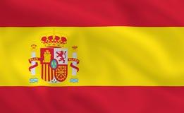 Flag of Spain. Spanish waving flag (background or wallpaper Stock Image