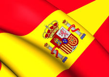 Flag of Spain. Close Up Royalty Free Stock Images