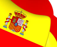 Flag of Spain. Close Up Stock Photos