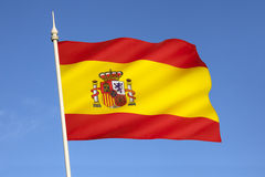 Flag of Spain - Europe. The national flag of the European country of Spain Royalty Free Stock Images