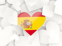 Flag of spain, heart shaped stickers Royalty Free Stock Photography