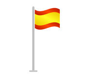 Flag of Spain illustrated Stock Photography