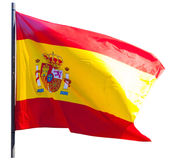 Flag of Spain isolated over white background Stock Photos