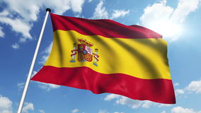 Flag of Spain (loop) stock video