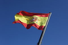 Flag of Spain, moving in wind. Flag of Spain, moving in the wind Royalty Free Stock Images