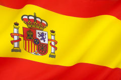 Flag of Spain. The national flag of Spain Royalty Free Stock Photo