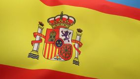 Flag of Spain. The national flag of Spain stock video footage