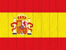 Flag of Spain. Painted on a wooden wall Stock Photography