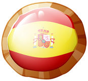 Flag of Spain in round frame Royalty Free Stock Image