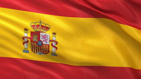 Flag of Spain seamless loop Stock Photos
