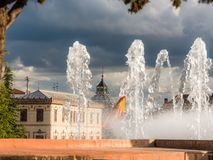 The flag of spain 1 royalty free stock photography