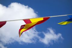 The flag of Spain Royalty Free Stock Photography